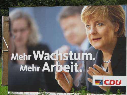 Wahlplakat CDU - Merkel