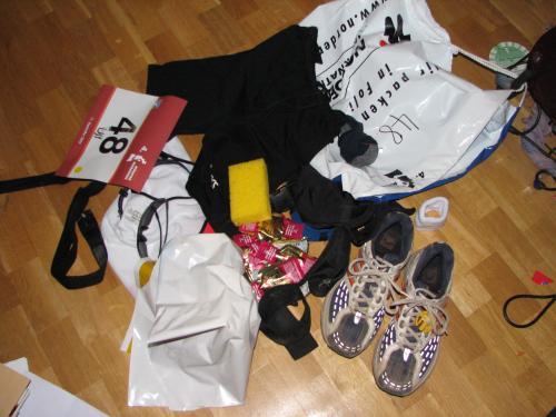 Meine Marathonklamotten