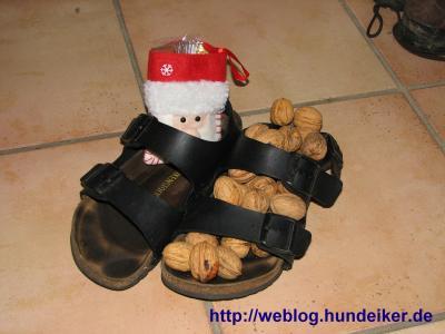Ulfs vom Nikolaus gefüllte Sandalen