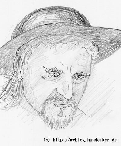 Karikatur von Ulf mit Hut