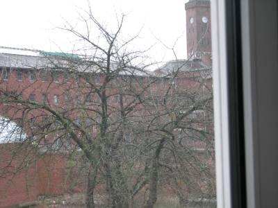 Blick durch mein Fenter auf die JVA Münster