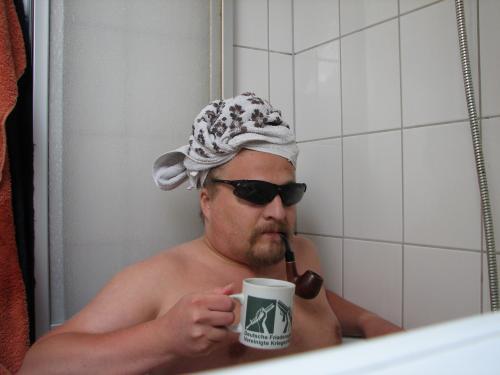 Ulf in der Wanne