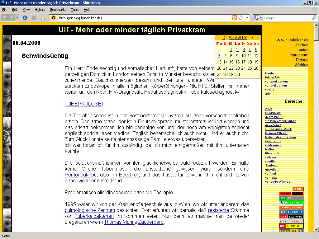 Browsertest-Screenshot: Shiretoko 3.1