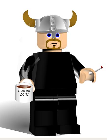 Ulf der Wikingerhäuptling als Legofigur