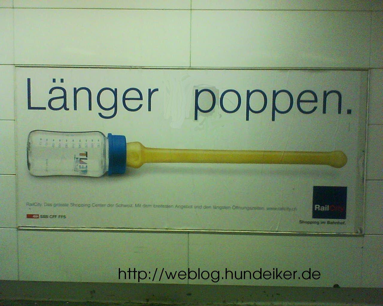 Verhunzte Bahnhofswerbung aus Winterthur