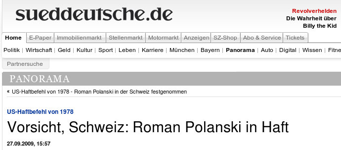 S�ddeutsche online Screenshot