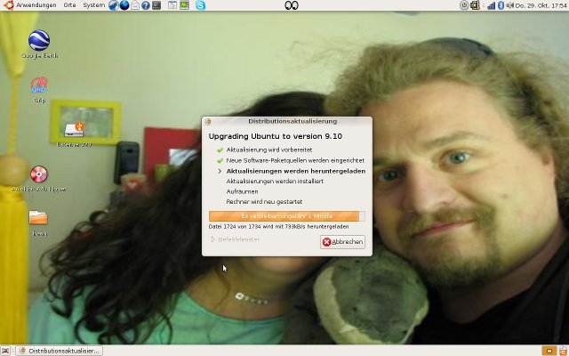 Distributions-Upgrade auf Ubuntu 9.10 - Screenshot