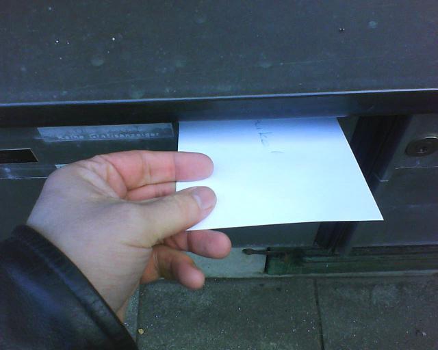 Umschlag mit Schlüssel für den Ex-Vermieter