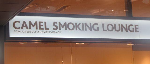Camel Smoker Lounge: Raucherraum für Kamele.