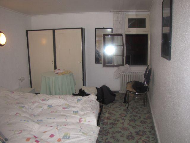 Unser Bett im Hotel.
