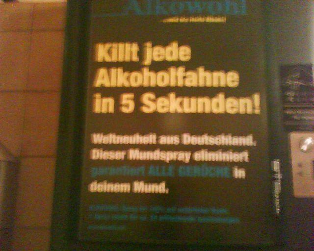 Alkoholfahnenkillerwerbung.