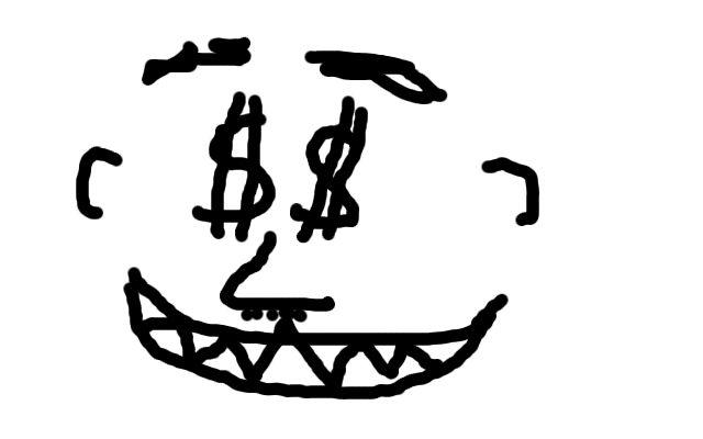 Dollarzeichen in den Augen.