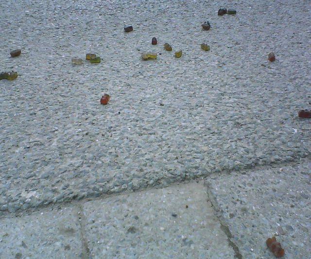 Tödlich verletzte Gummibärchen.