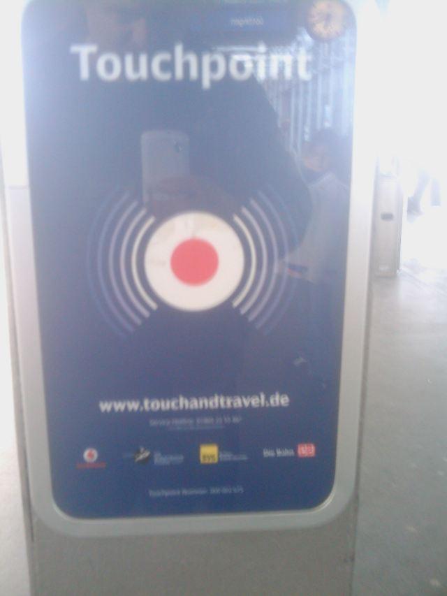 Doofer Touchpoint-Schalter von die Doitsche Bahn AG