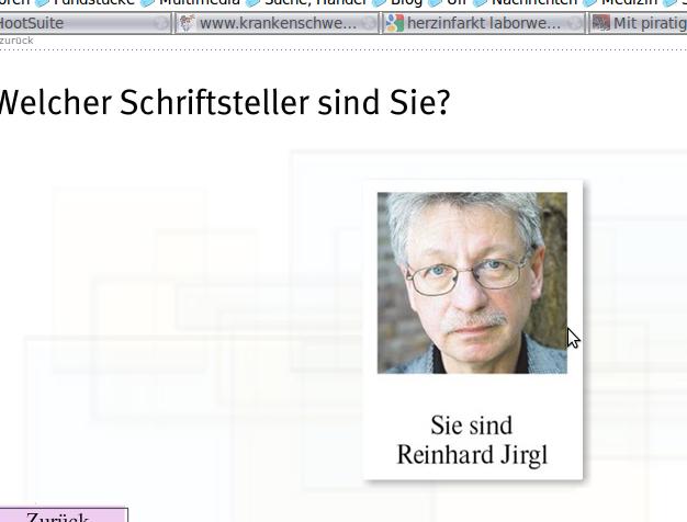 Ich bin Reinhard Jirgl. Screenshot faz.net.