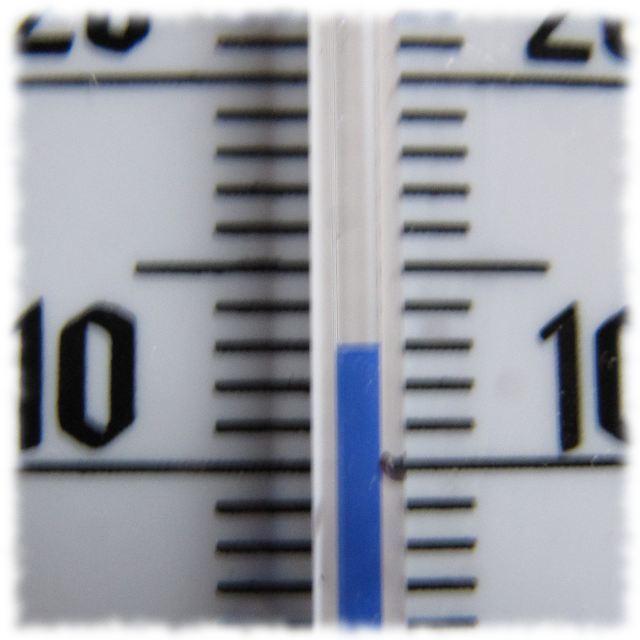 Wohnzimmerthermometer: Dreizehn Grad!