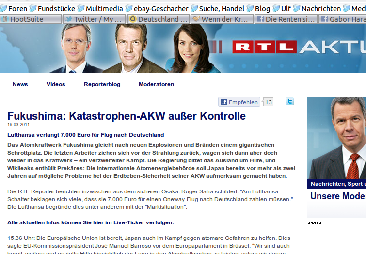 Screenshot RTL-News.