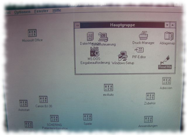 Der Desktop unter Windows 3.11