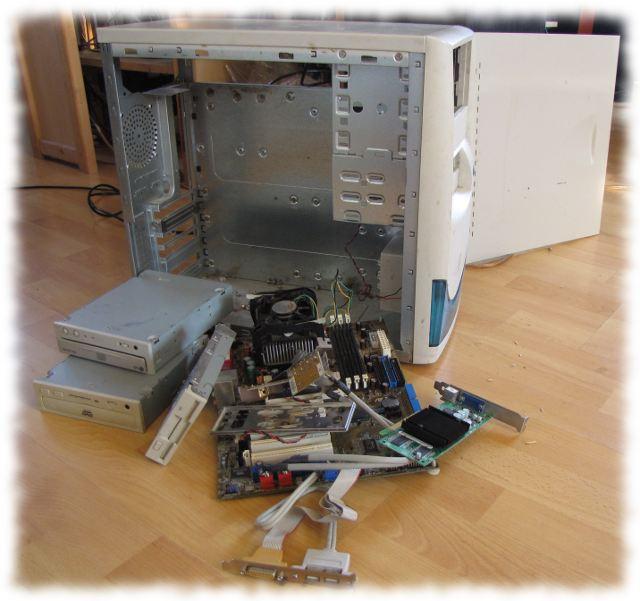 Zerlegter Computer.