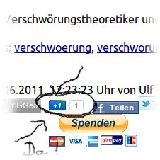 Screenshot mit deuem Google-Button.