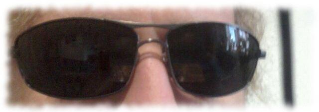 Ulfs Augen, verdeckt von Sonnenbrille.