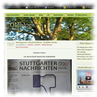 Screenshot vom Oldblog
