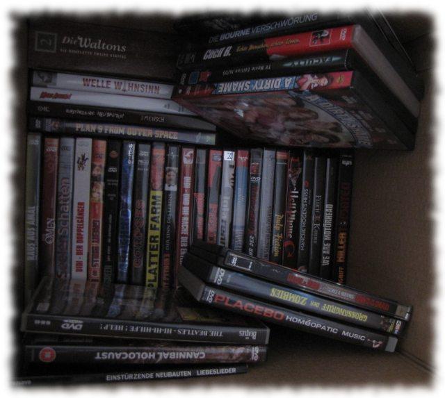 Teil unserer DVD-Sammlung. Von Hallervorden bis Kannibalen.
