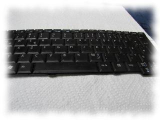 Kaputte Tastatur des Netbooks.