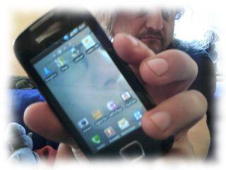Ulf sein Smartphone.