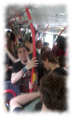 Shuttlebus nach Wacken.