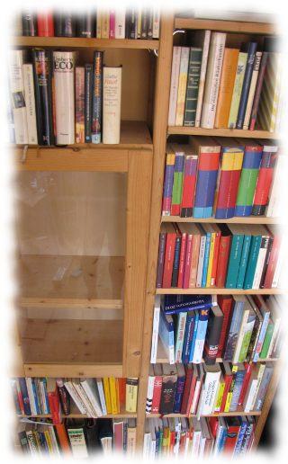 Ein kleiner Teil unseres Bücherregales.