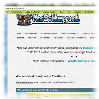 Screenshot von macschlumpf.net.