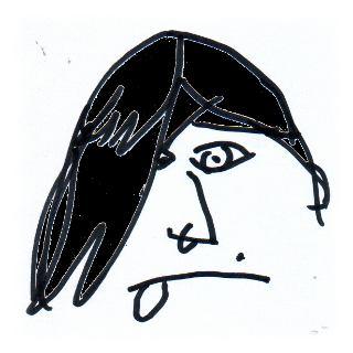Mißlungene Skizze eines Klischee-Emo.