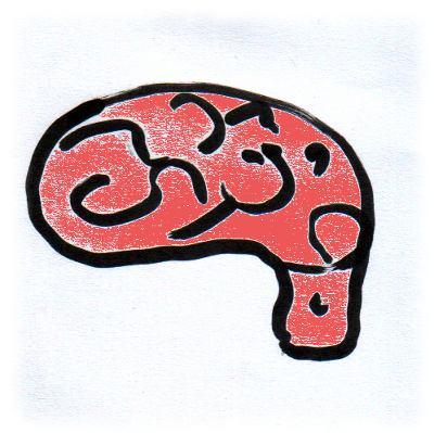 Zeichnung Gehirn.