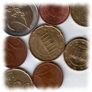 Euro-Münzen.