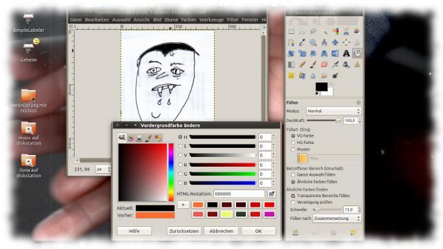 Screenshot zu Bearbeitungsbeginn.