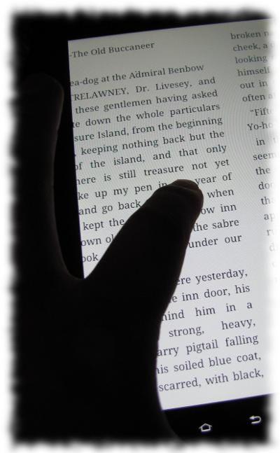 Älteres Galaxy-Tab als E-Book-Reader.
