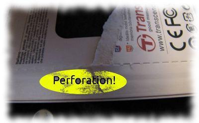 Elektronikverpackung mit löblicherweise perforierter Pappverpackung!