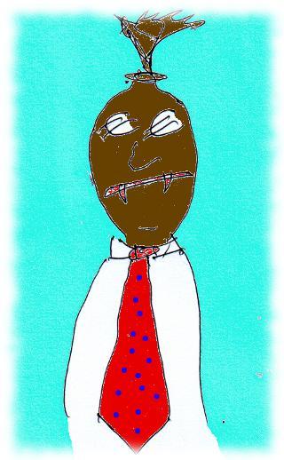 Karikatur eines Geldsackes.