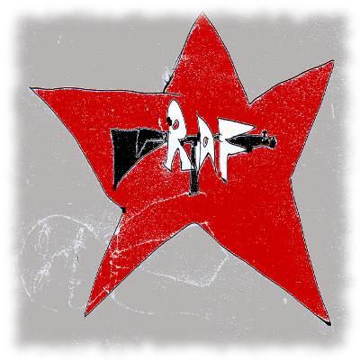 Verunglücktes Logo der Rote Armee Fraktion.