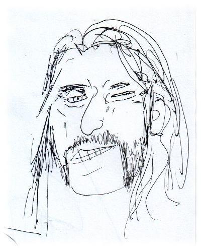 Ulf hat Lemmy gezeichnet, ausnahmsweise mal nicht völlig verunfallt.