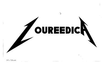Selbst entworfenes Logo Loureedica als Kombination von Lou Reed mit Metallica.
