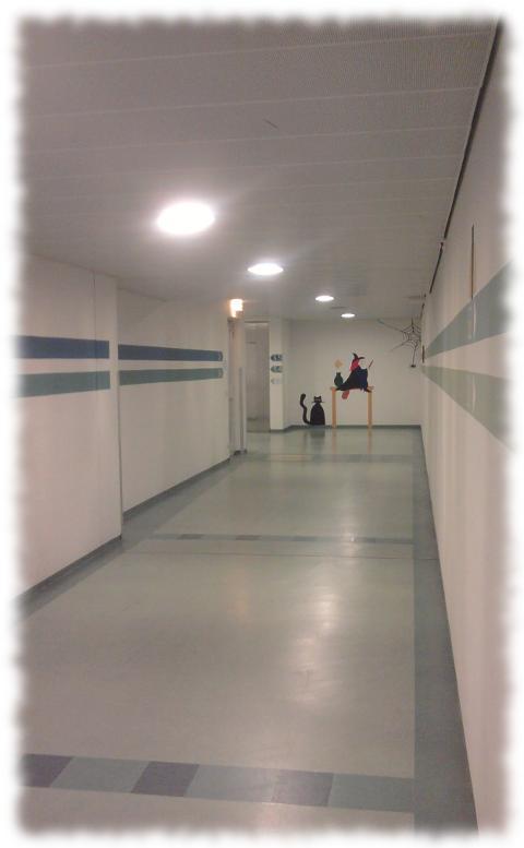 Keller-Korridor im ATZ Saarbrücken.