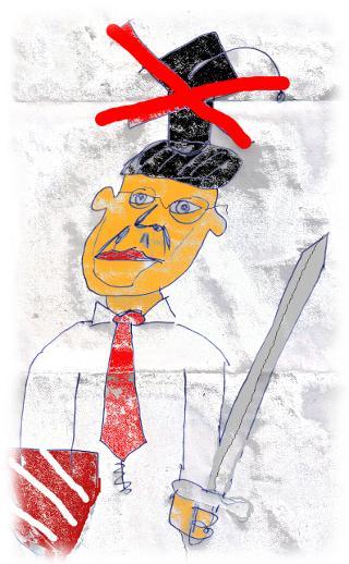 Mi�lungene Zeichnung des Kalle Gutti.