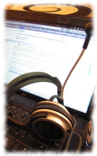 Wichtige Werkzeuge sind Kopfhörer und Notebook!