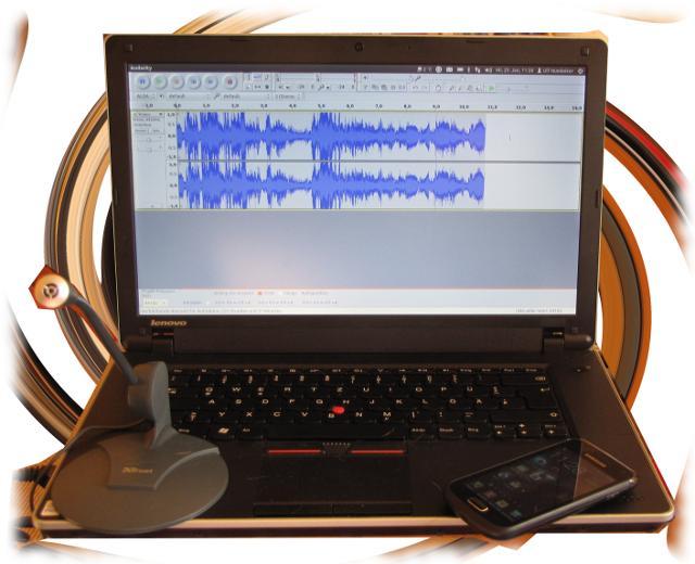 Ulfs Aufnahmetechnik: Billigmikrophon auf Audacity/Ubuntu.