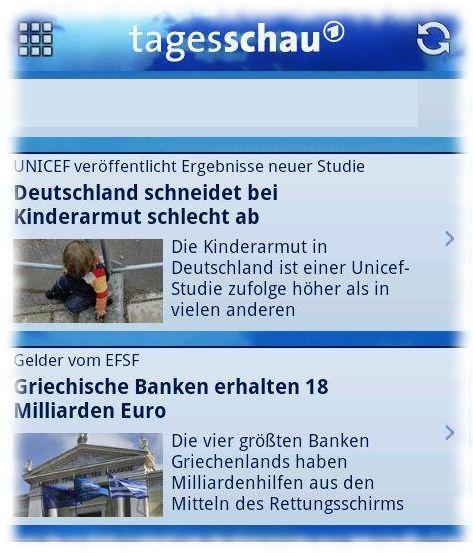 Meldungen untereinander: 1- Kinderarmut in Deutschland, 2- Millardenfinanzspritzen für Griechenland.