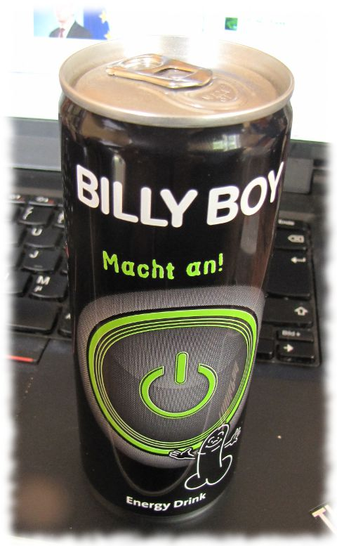 Dose mit Billy-Boy-Brause.