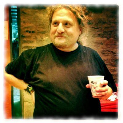 Ulf mit Kaffee.