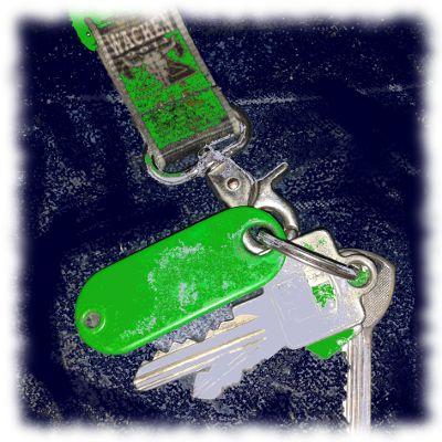 Schlüssel, verfremdet.